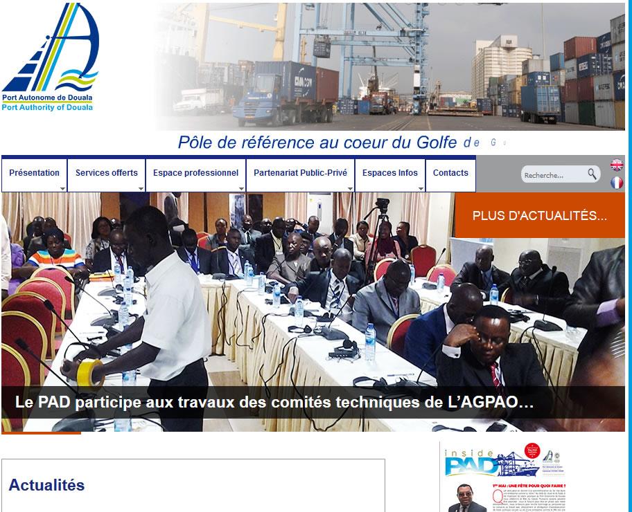 Port autonome de douala - Site internet du port autonome de douala ...